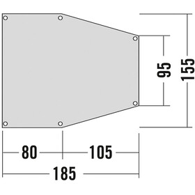 Tatonka Bâche de sol apside 2 - Accessoire tente - gris